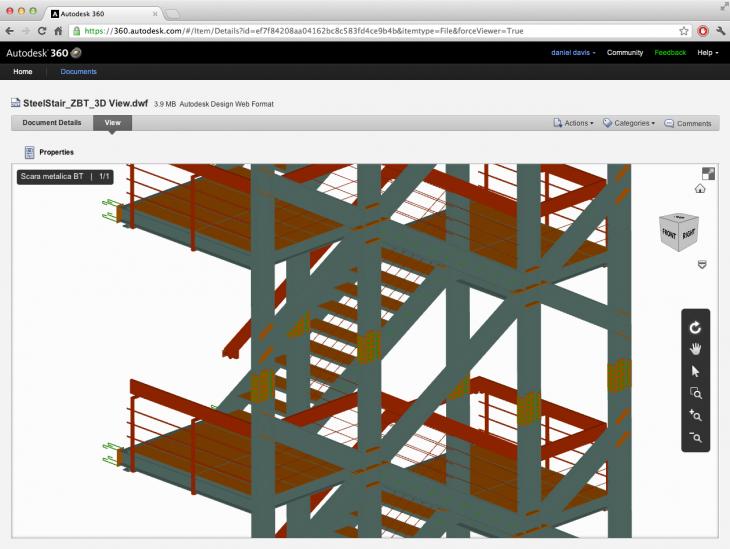 Stair in viewed on Autodesk 360
